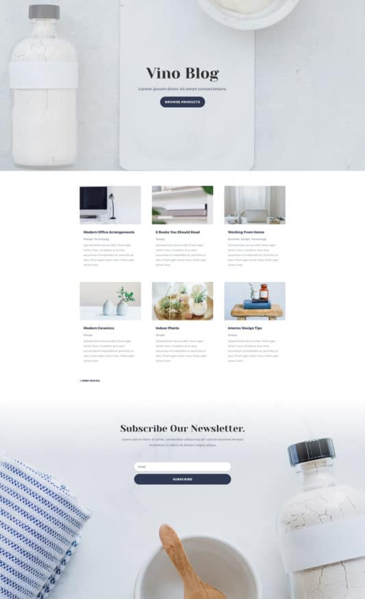 Cosmetics Shop Web Design 2