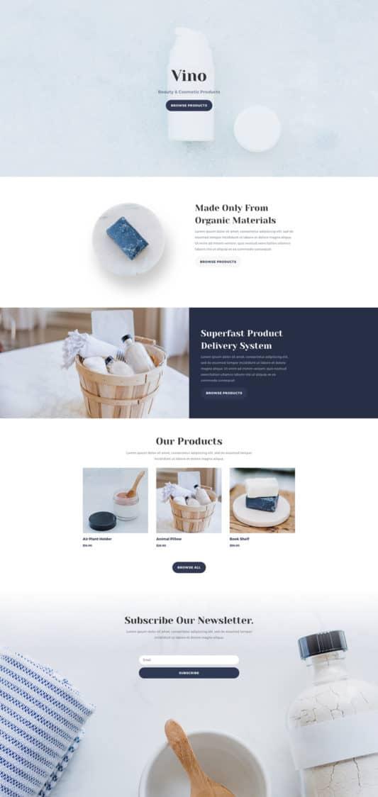 Cosmetics Shop Web Design 4