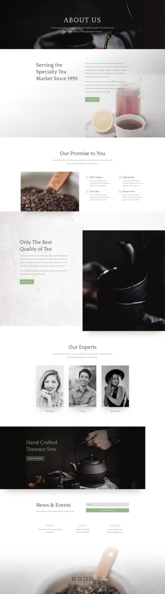 Tea Shop Web Design 1