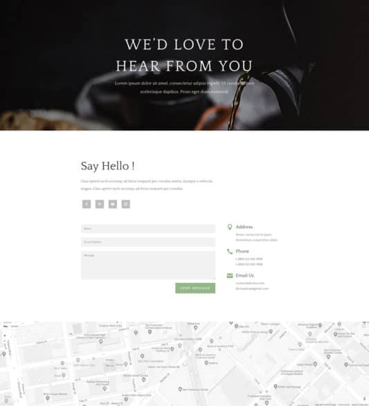 Tea Shop Web Design 3
