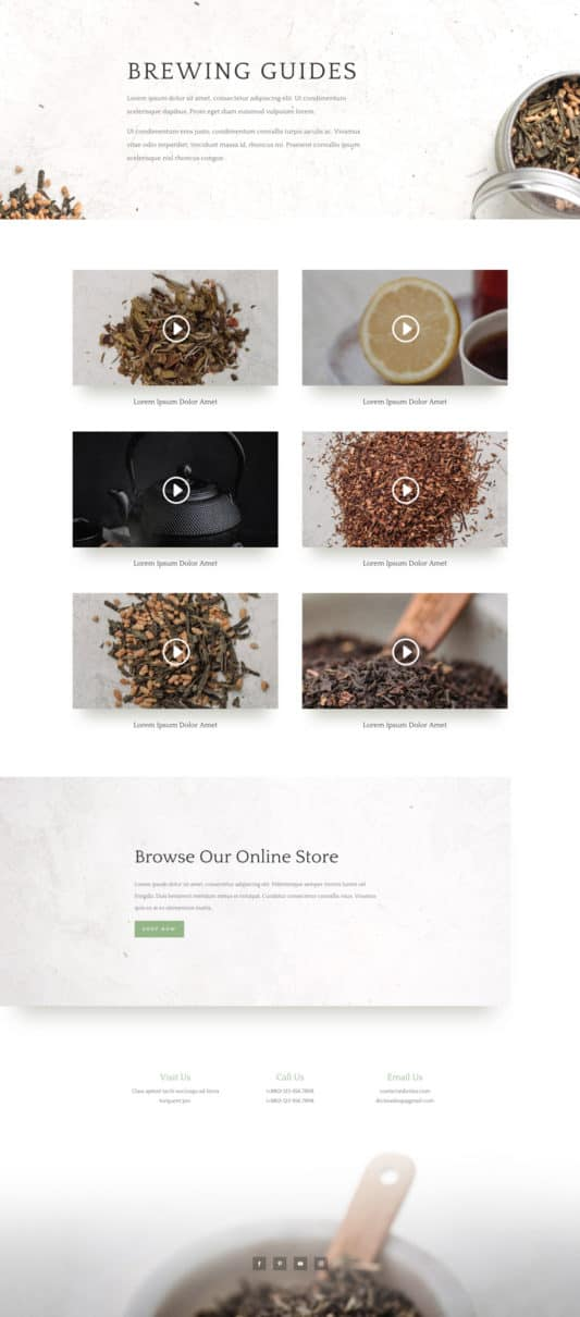 Tea Shop Web Design 5