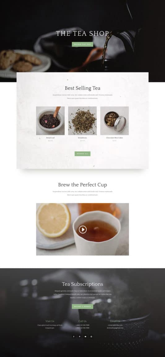Tea Shop Web Design 6