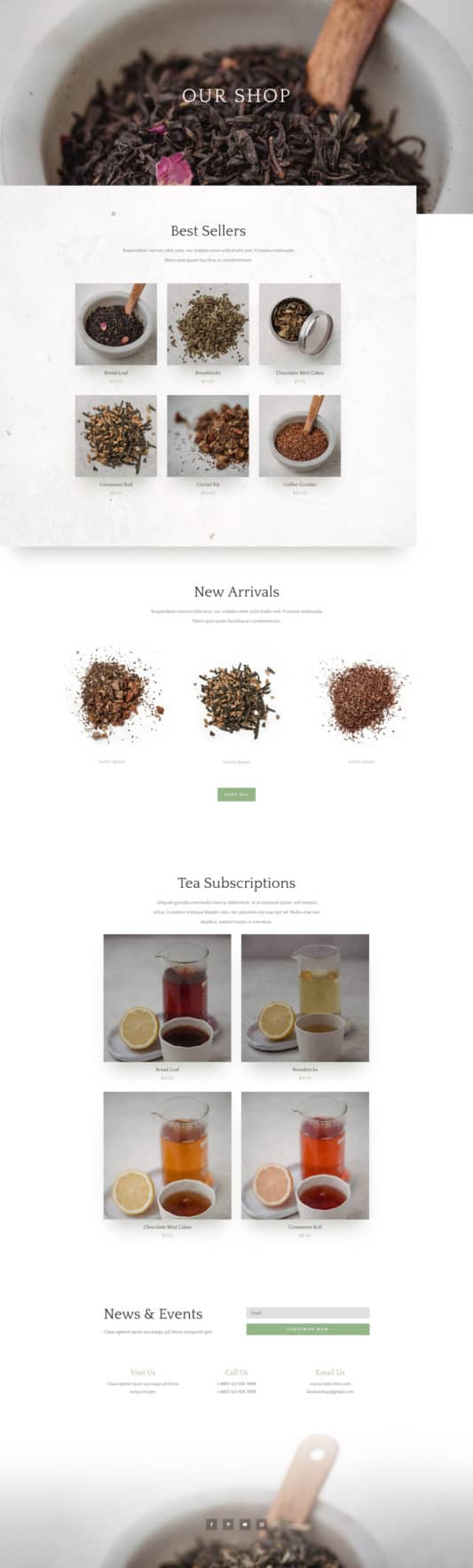 Tea Shop Web Design 8