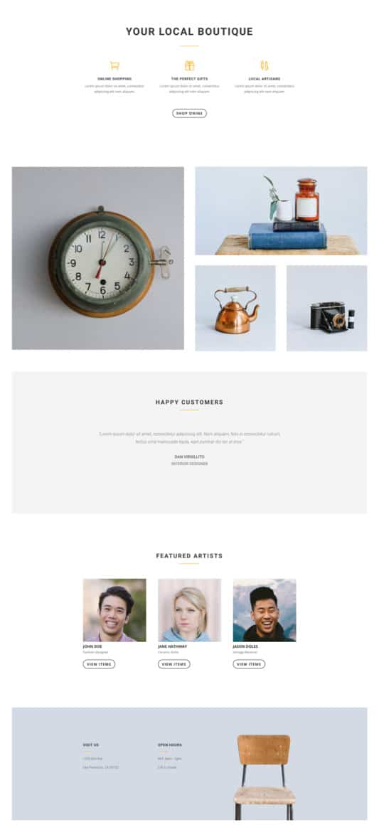 Boutique Web Design 1