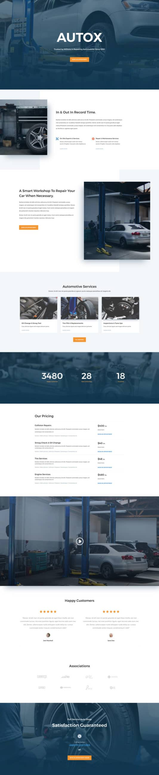 The Auto Repair Page Style: Homepage Design 1
