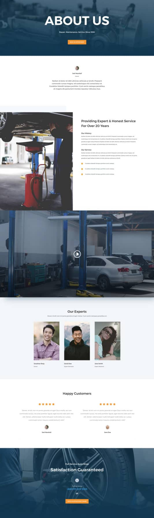 Auto Repair Web Design 1