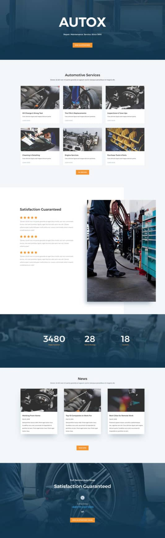 Auto Repair Web Design 4