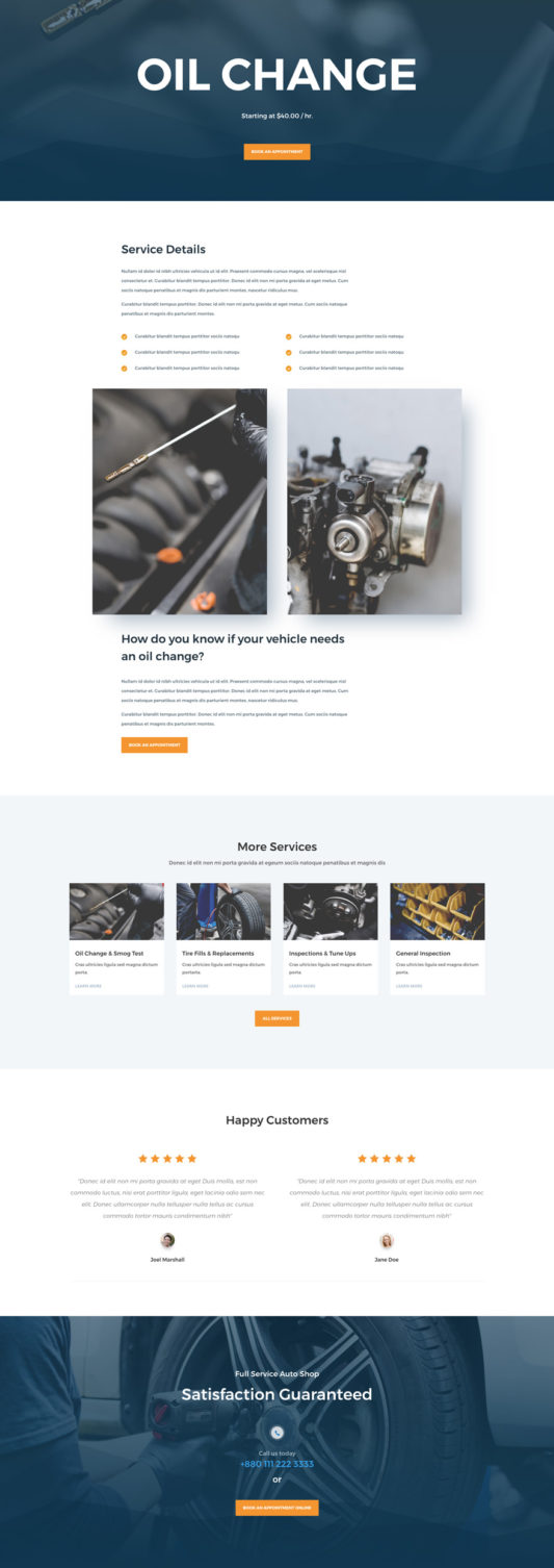 Auto Repair Web Design 6
