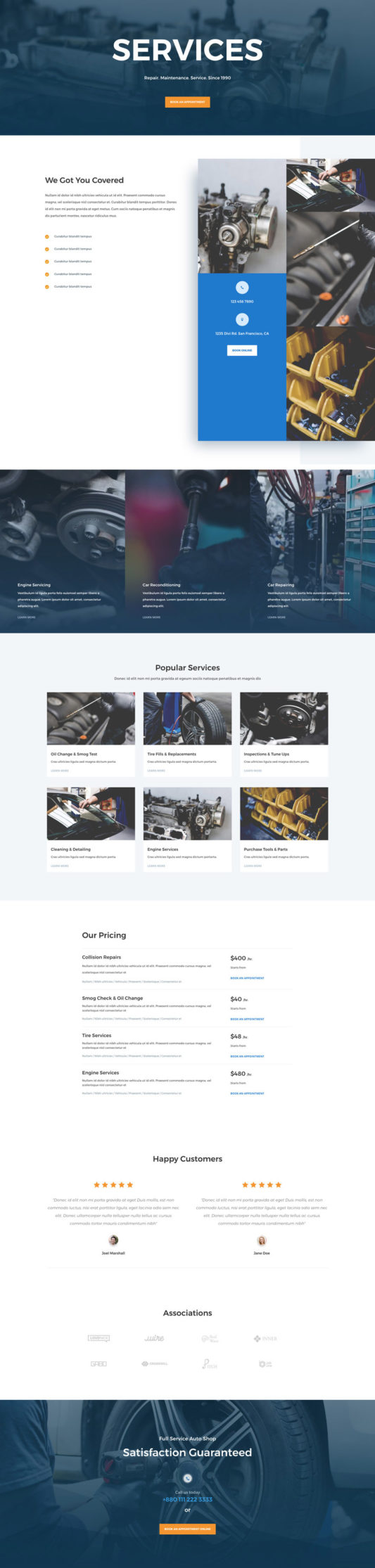 Auto Repair Web Design 7