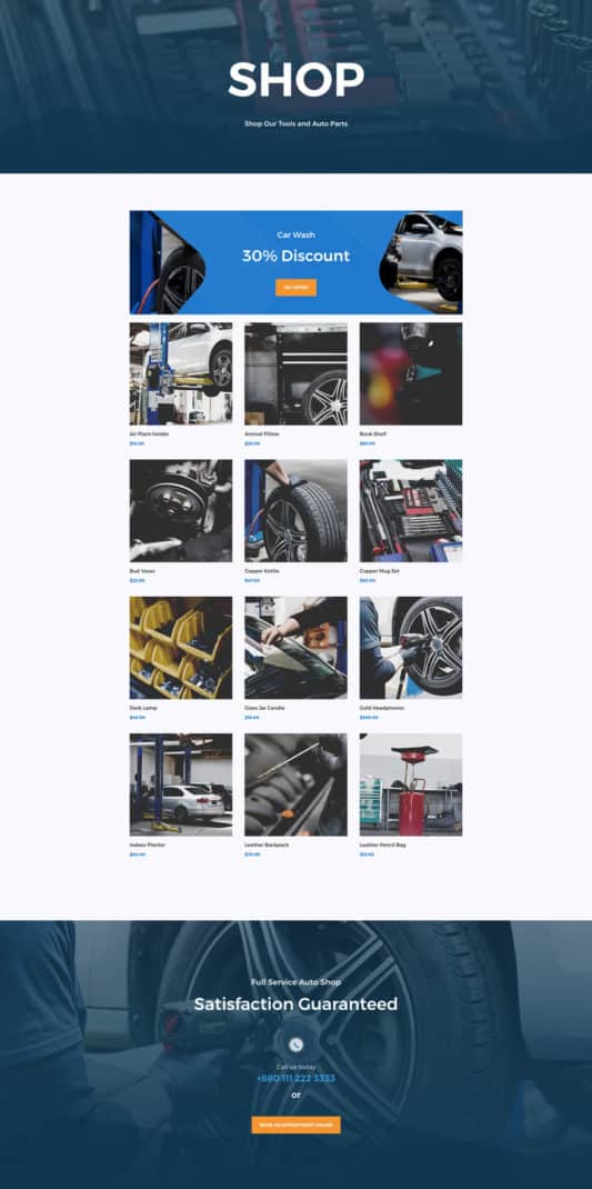 Auto Repair Web Design 8