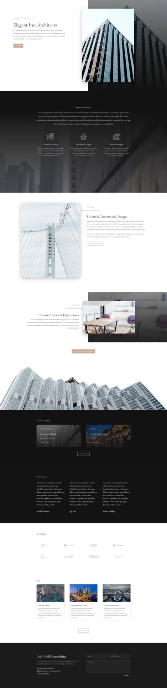 The Architecture Firm Page Style: Homepage Design 1
