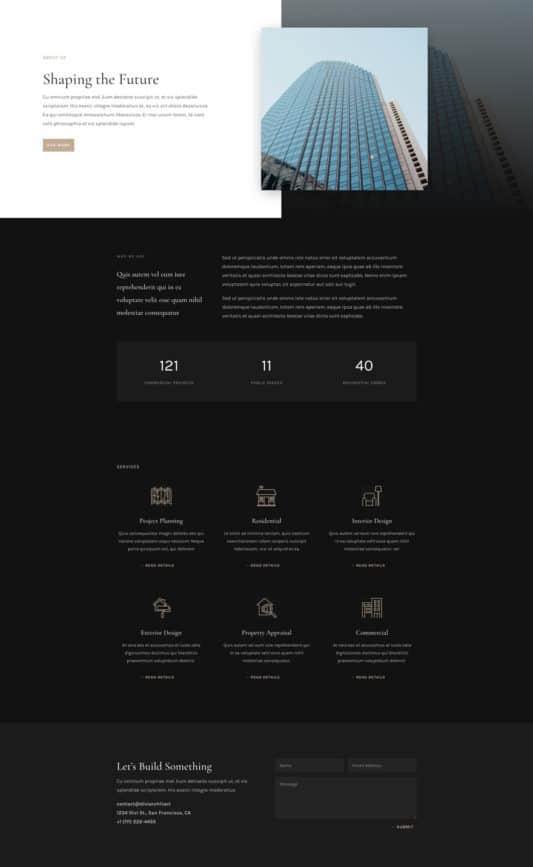 Architecture Firm Web Design 1