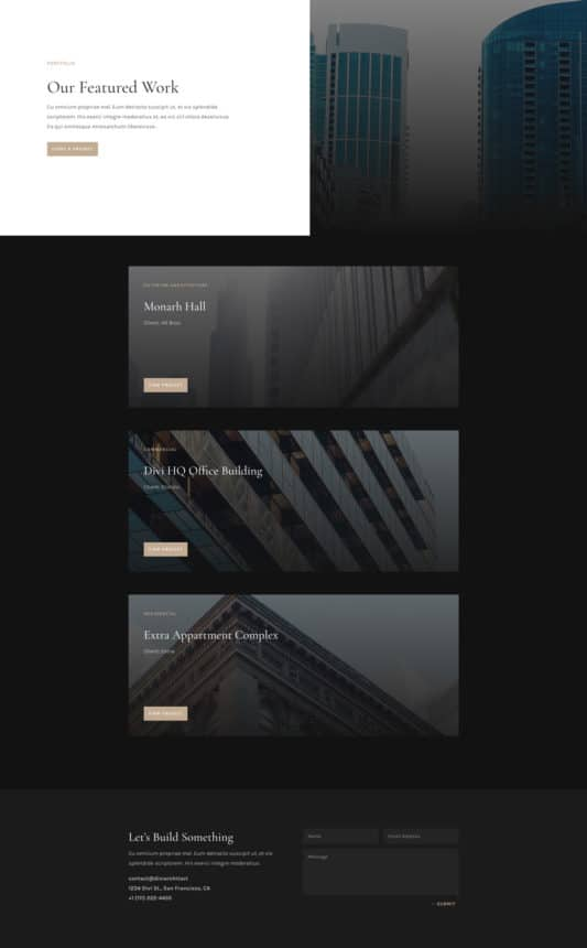 Architecture Firm Web Design 5