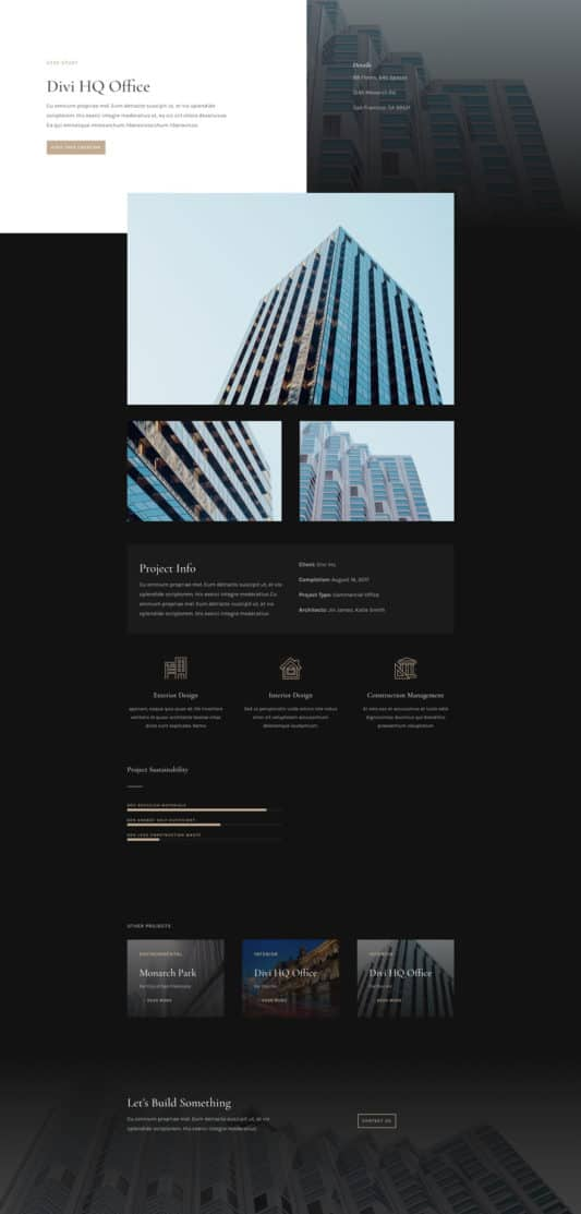 Architecture Firm Web Design 6