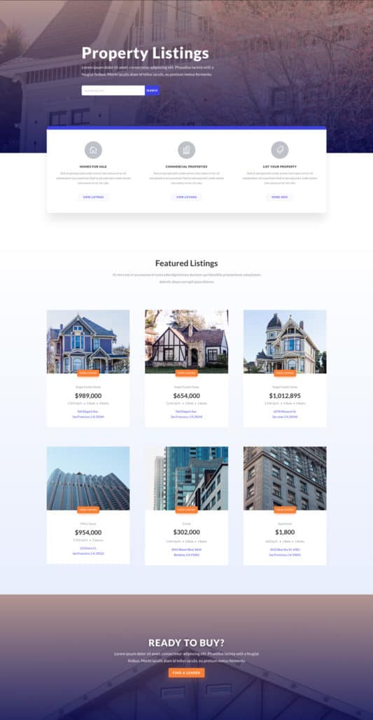 Real Estate Web Design 6