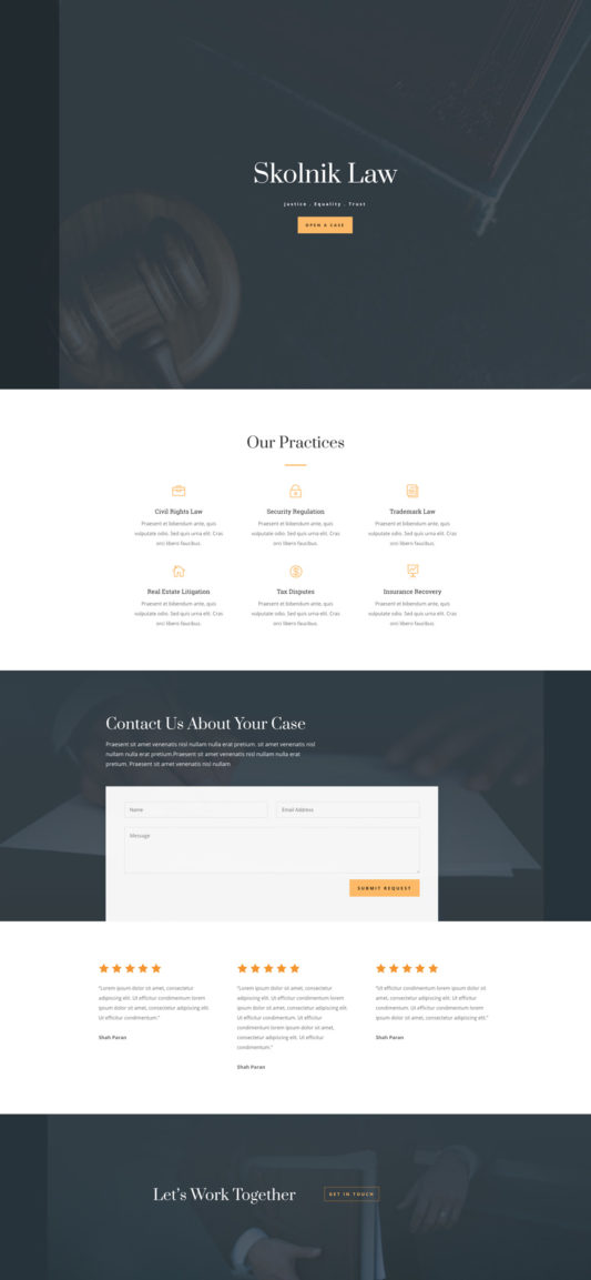 Law Firm Web Design 5