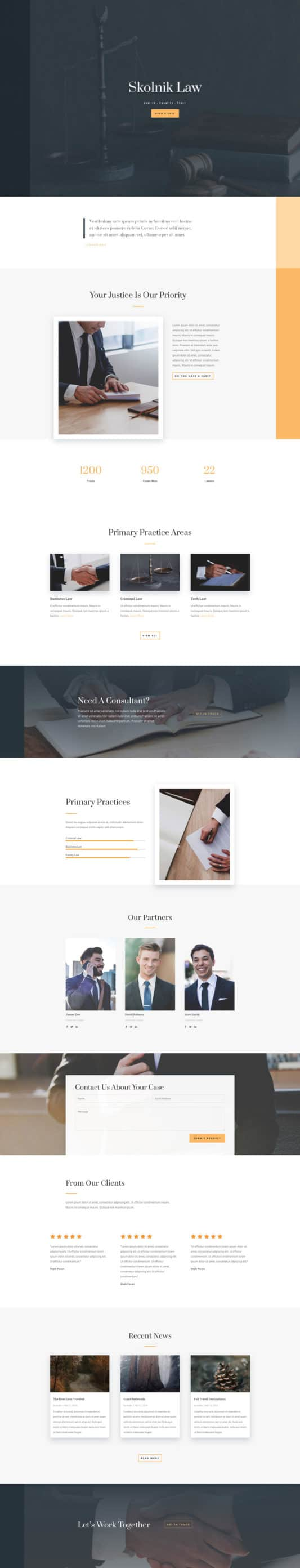 Law Firm Web Design 6