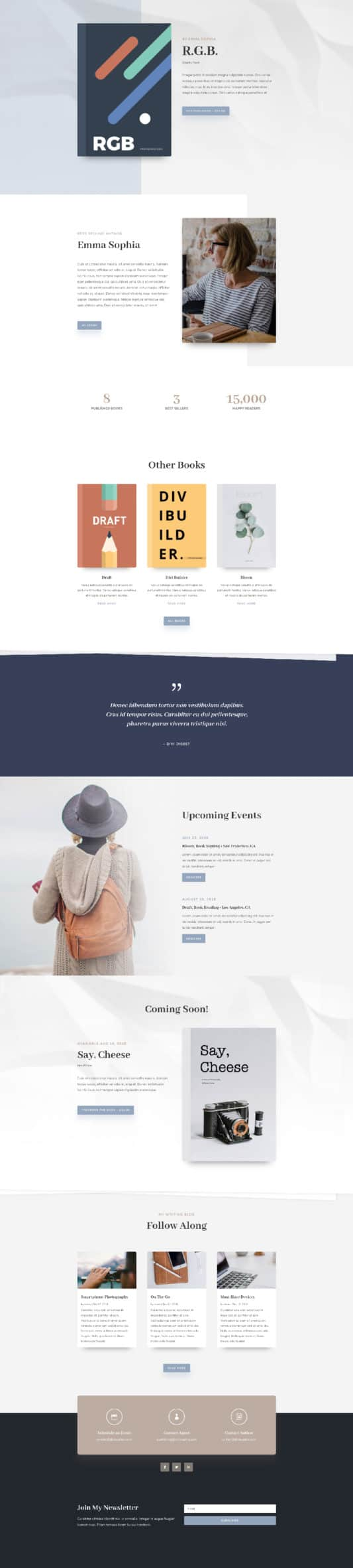 The Author Page Style: Homepage Design 1