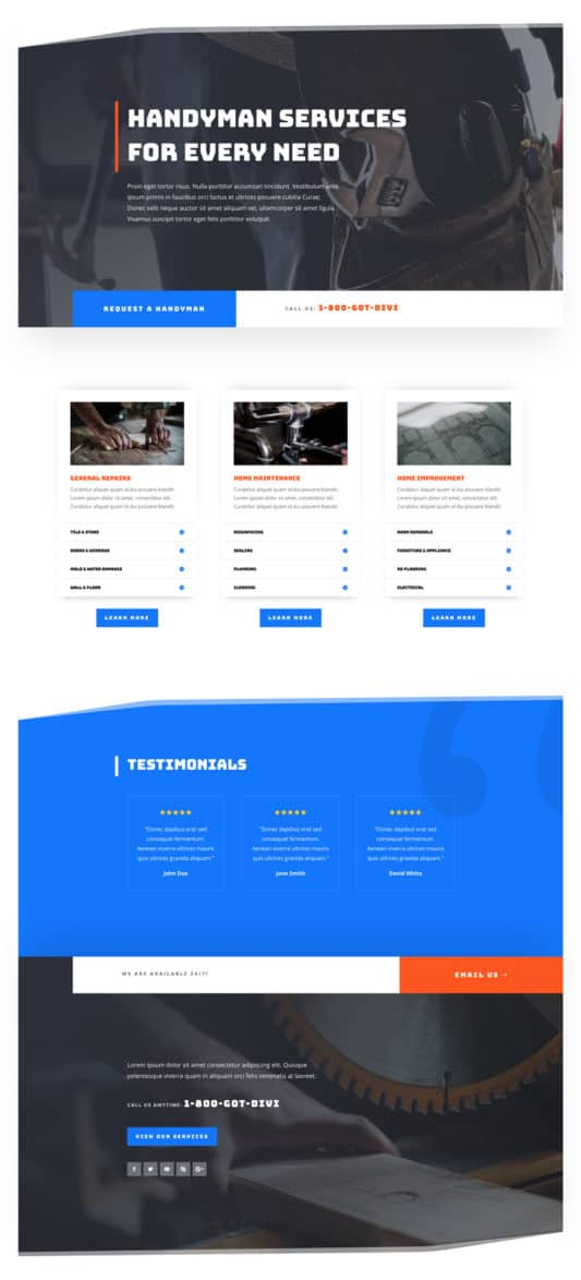 Handyman Web Design 4