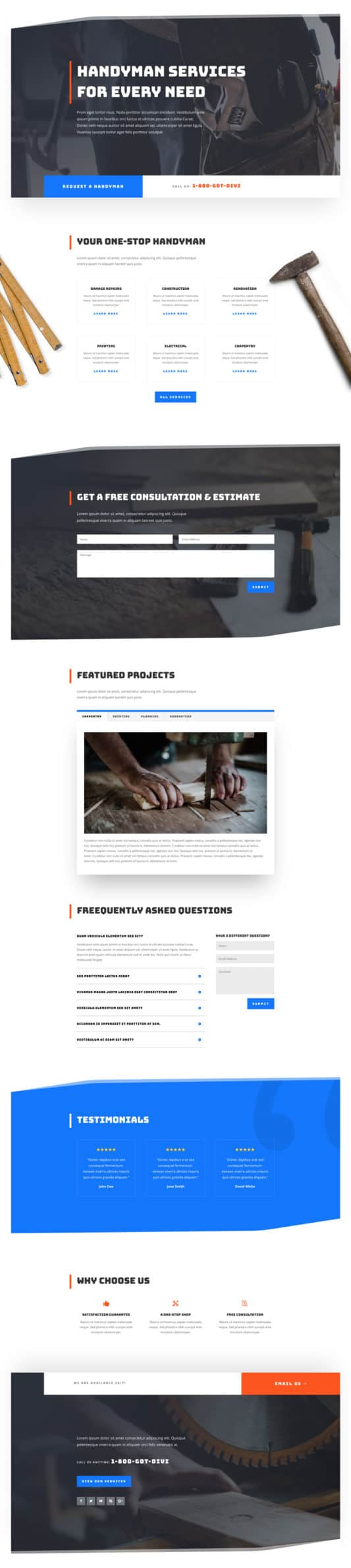 Handyman Web Design 5