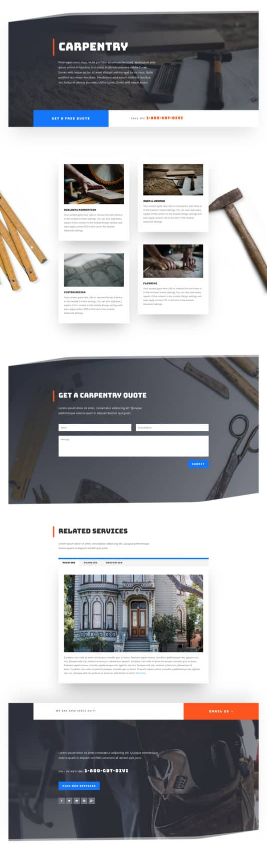 Handyman Web Design 6