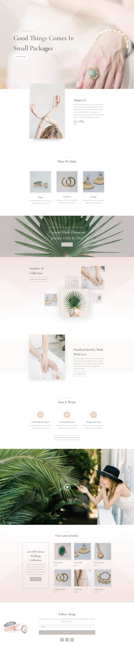 The Jeweler Page Style: Homepage Design 1
