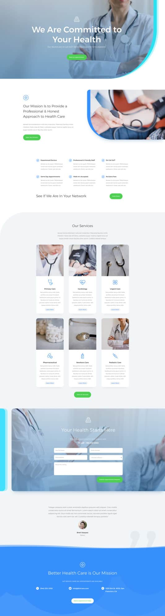 The Doctor's Office Page Style: Homepage Design 1