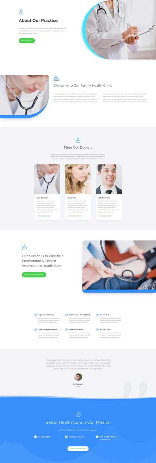 Doctor's Office Web Design 1