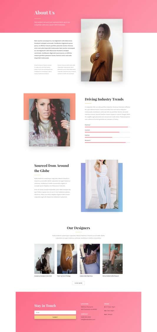 Fashion Web Design 1