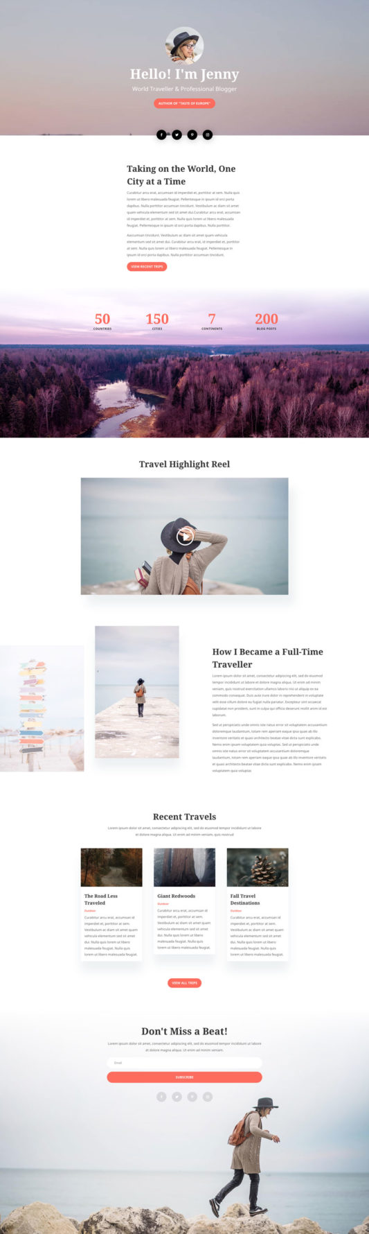 Travel Blog Web Design 1