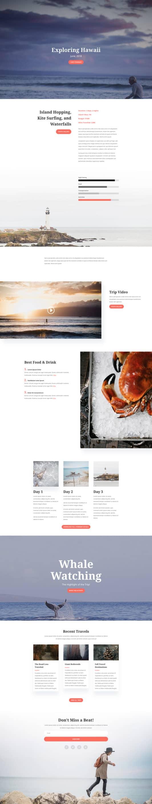 Travel Blog Web Design 6
