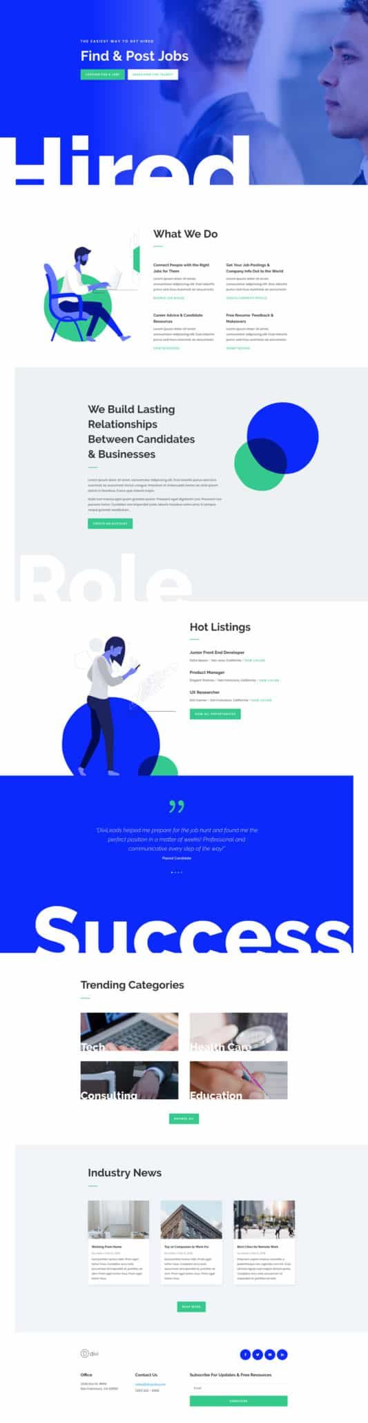 The Job Recruiter Page Style: Homepage Design 1