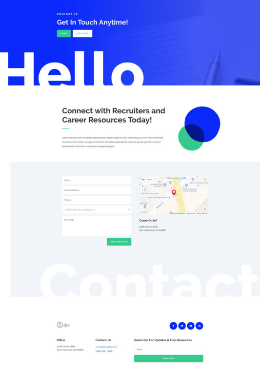 Job Recruiter Web Design 4