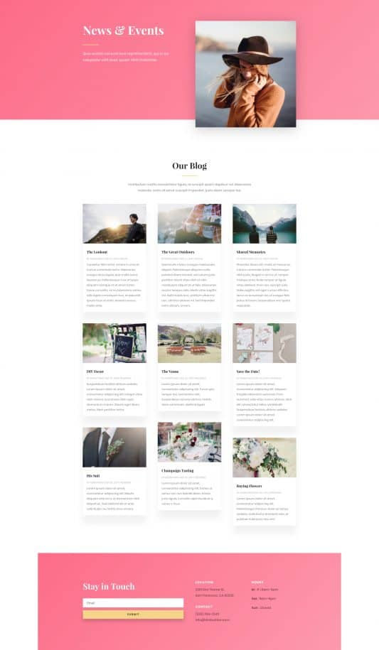 Fashion Web Design 2