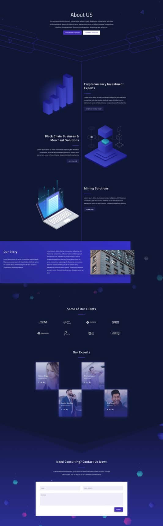 Cryptocurrency Web Design 1