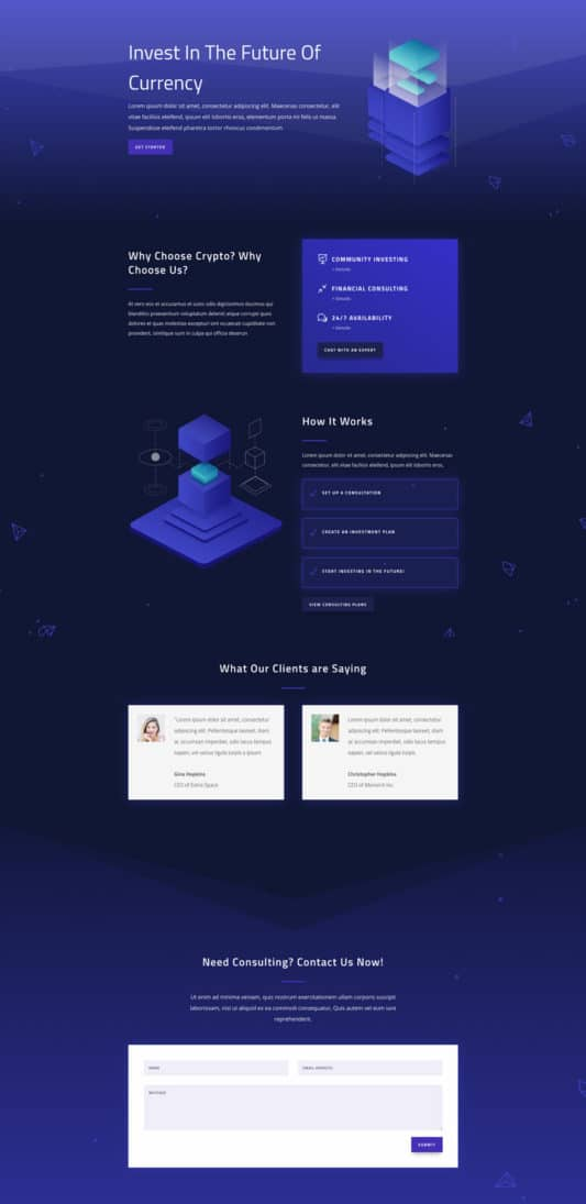 Cryptocurrency Web Design 5