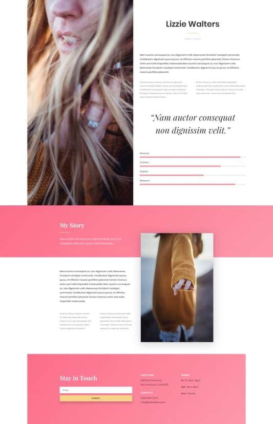Fashion Web Design 4