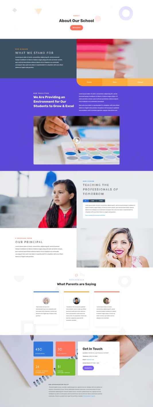 Elementary School Web Design 1
