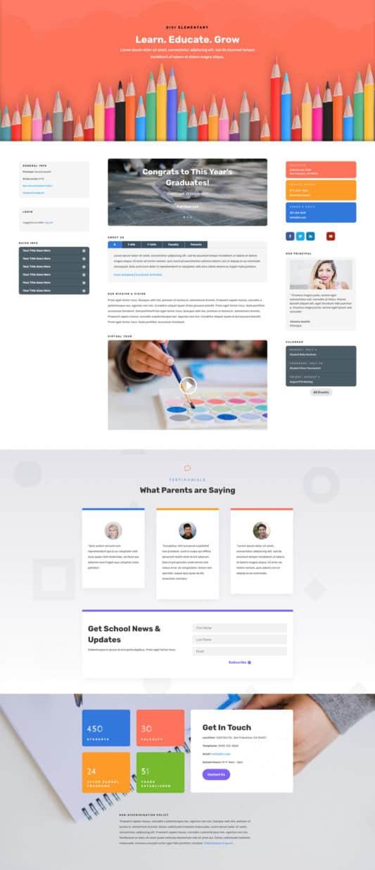 Elementary School Web Design 4