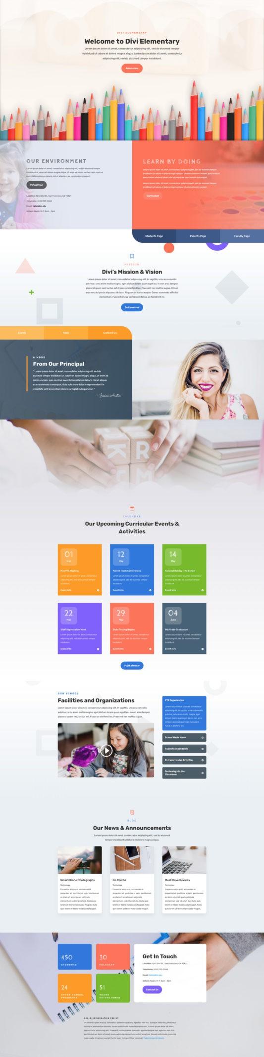 Elementary School Web Design 5
