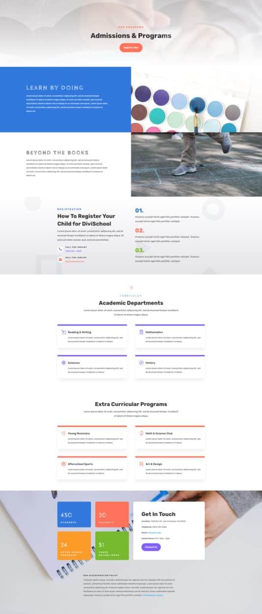 Elementary School Web Design 6