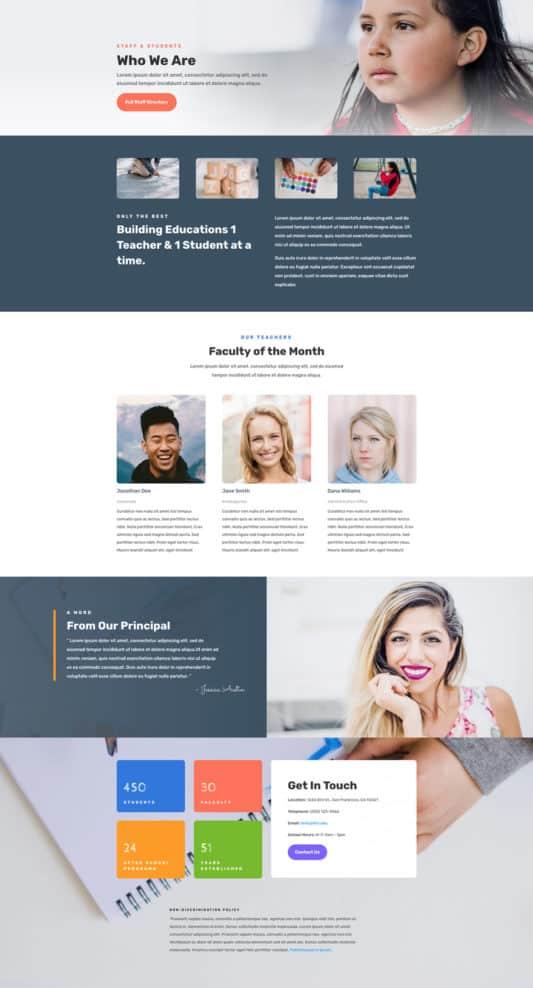 Elementary School Web Design 7
