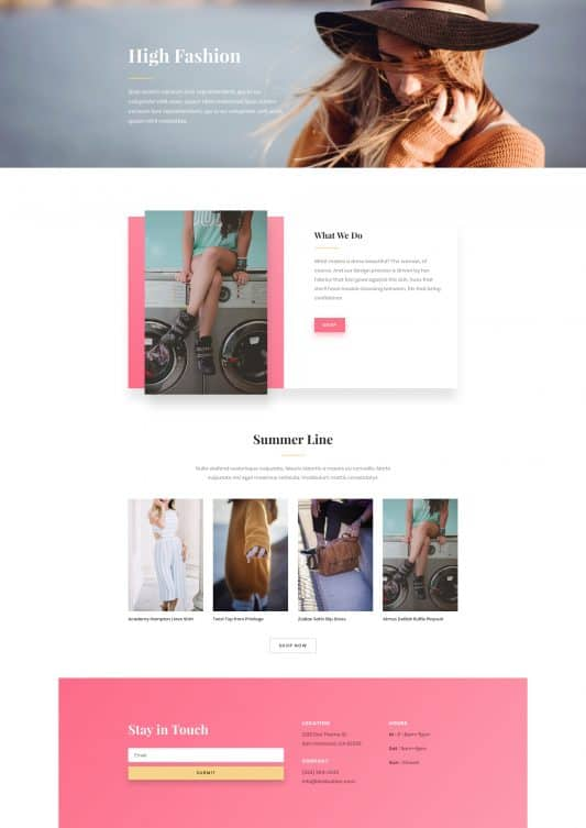 Fashion Web Design 6