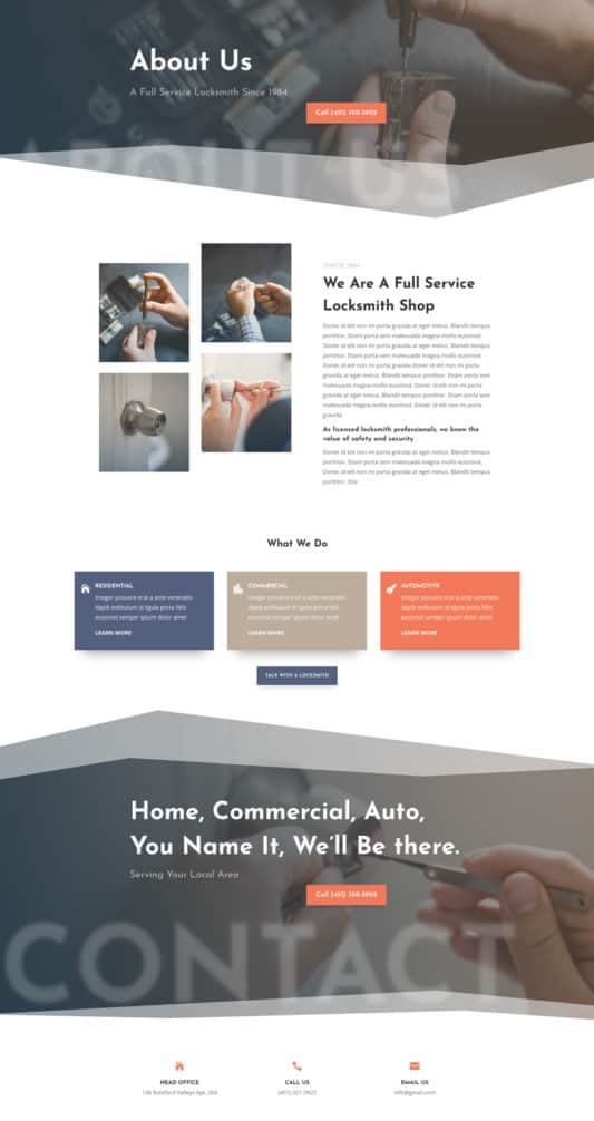 Locksmith Web Design 1