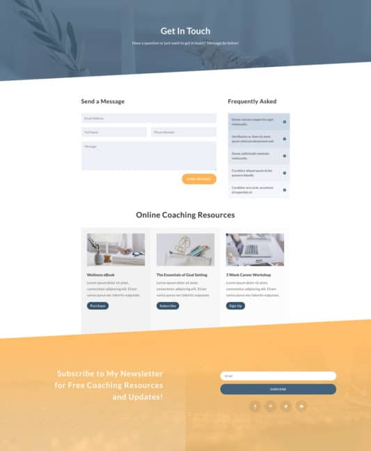 Life Coach Web Design 4
