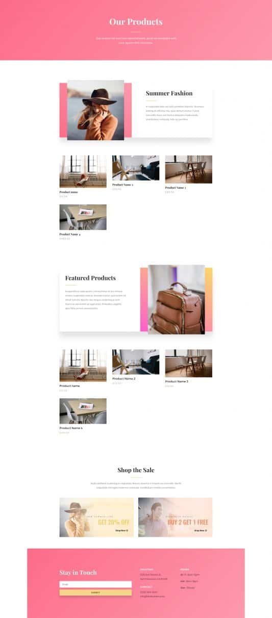 Fashion Web Design 8