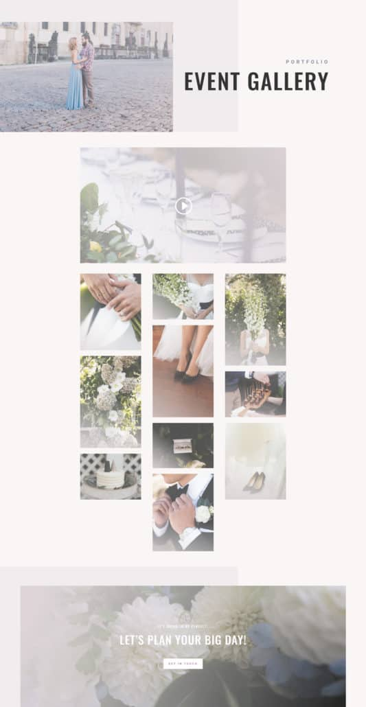 Wedding Planner Web Design 4