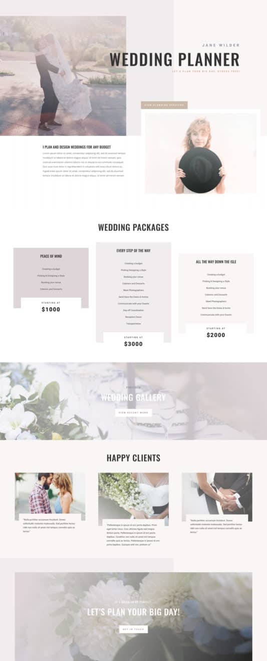 Wedding Planner Web Design 5