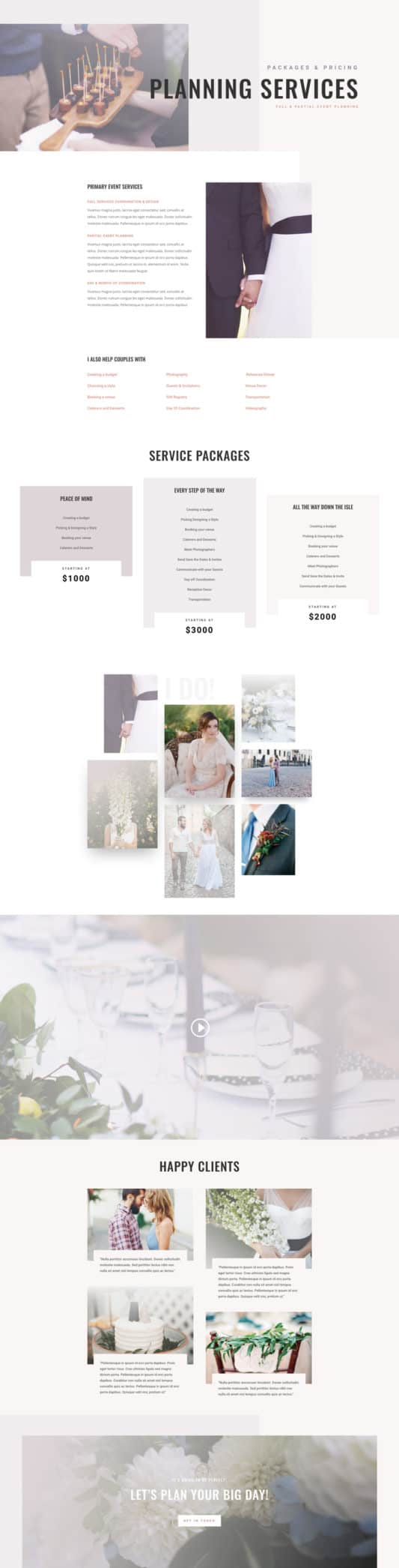 Wedding Planner Web Design 7