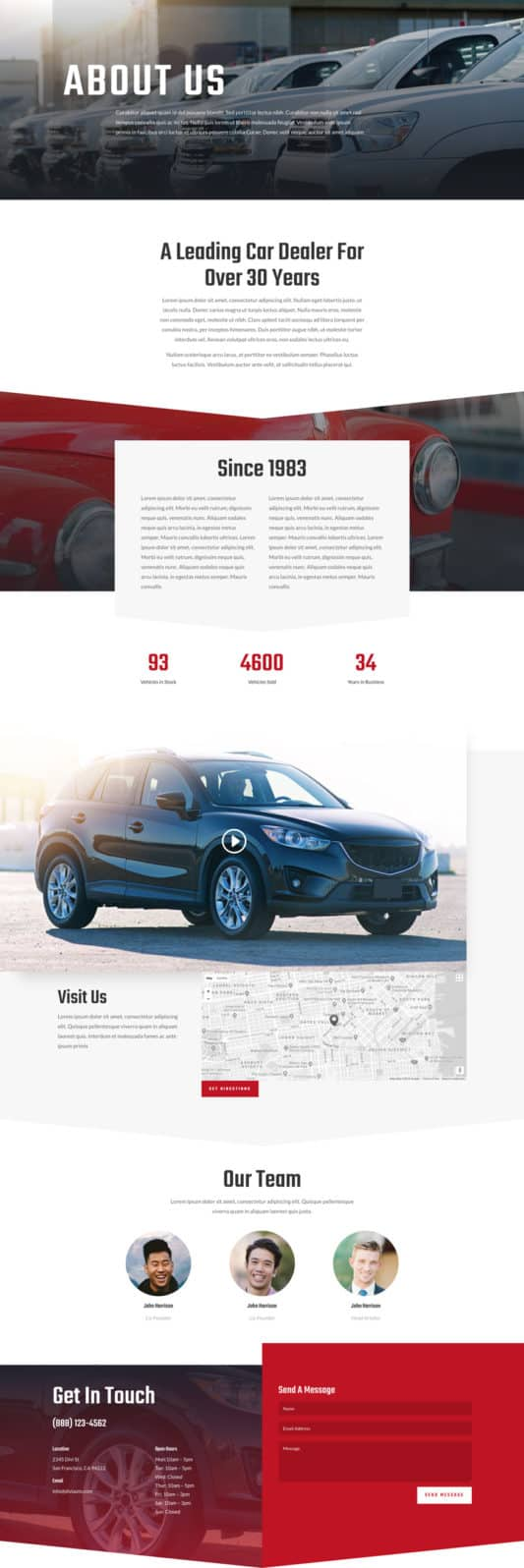 Car Dealer Web Design 1